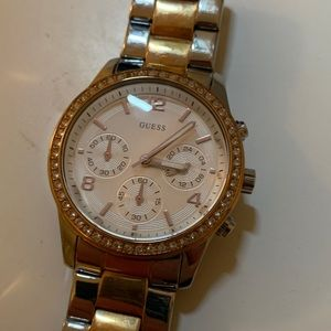 Two toned guess watch